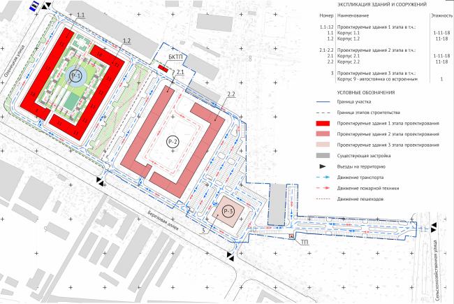 ЖК Green Park. Генеральный план © Проектное бюро «Апекс» и buromoscow. Заказчик: ГК ПИК