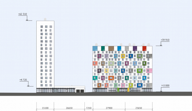 ЖК Green Park. Фасад уличный © Проектное бюро «Апекс» и buromoscow. Заказчик: ГК ПИК