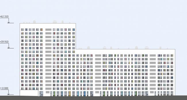 ЖК Green Park. Фасад дворовый © Проектное бюро «Апекс» и buromoscow. Заказчик: ГК ПИК