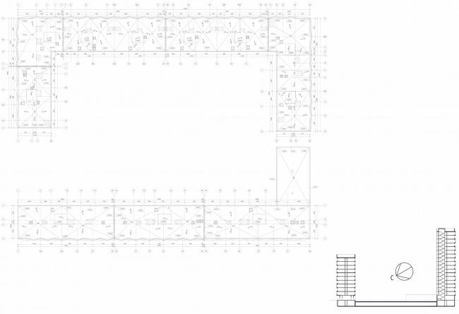 ЖК Green Park. План кровли © Проектное бюро «Апекс» и buromoscow. Заказчик: ГК ПИК