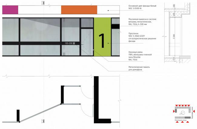 ЖК Green Park. Фрагмент фасада © Проектное бюро «Апекс» и buromoscow. Заказчик: ГК ПИК