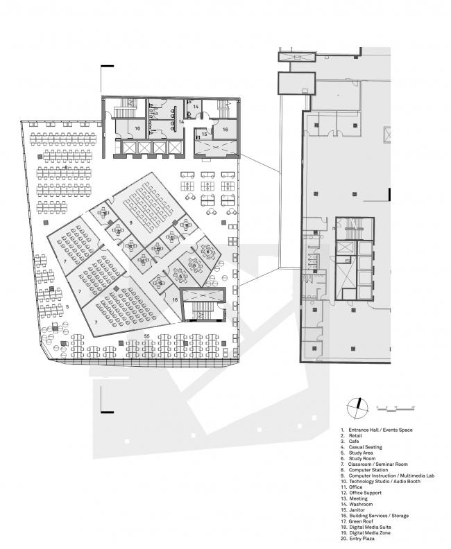 Студенческий учебный центр Университета Райерсона © Snøhetta