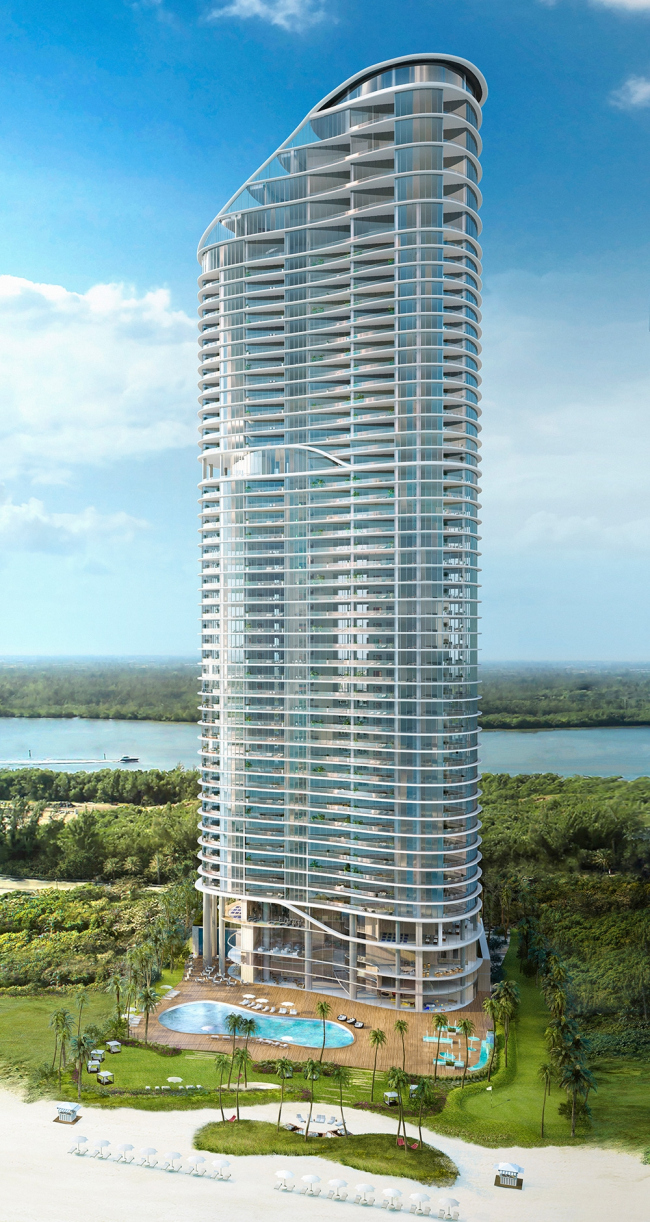 Башня Ritz-Carlton Residences. Изображение: Arquitectonica / Ritz-Carlton Residences, Sunny Isles Beach