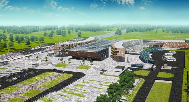Объединенный пассажирский терминал в Великом Новгороде. Алина Малышева (Великий Новгород). Предоставлено фондом «Мир молодежи»