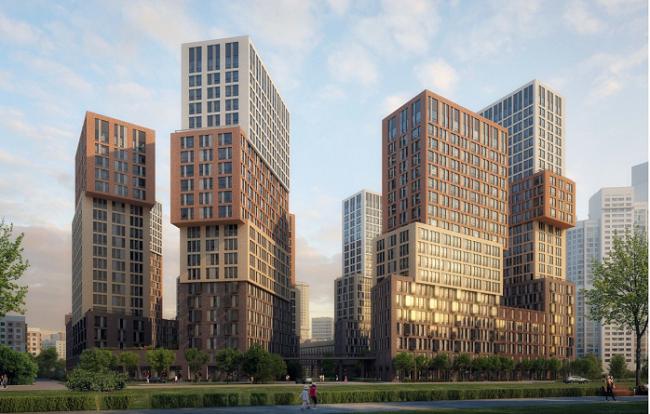 Жилой комплекс «Vander Park», Рублевское шоссе, квадрат 20, владение 105, корпус 38. Проектировщик: проектное бюро «Апекс»,  Заказчик: «Кунцево-Инвест» (ГК «Пик»)