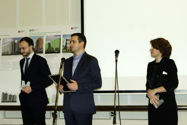 Награждение представителей «Моспромпроекта», авторов жилого комплекса на Пресненском валу. Фотография Аллы Павликовой