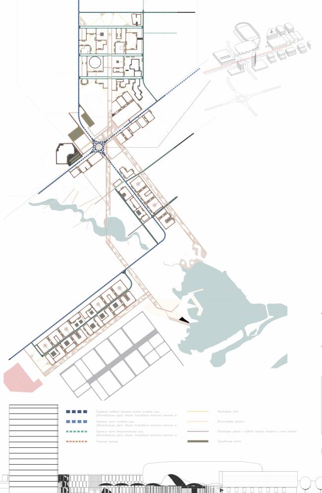Архитектурно-градостроительная концепция административно-общественного центра в г. Комсомольск-на-Амуре. Транспортная схема. Проект, 2015 © ПТАМ Виссарионова