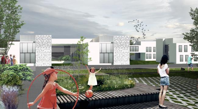 Архитектурно-градостроительная концепция административно-общественного центра в г. Комсомольск-на-Амуре. Поликлиника. Проект, 2015 © ПТАМ Виссарионова