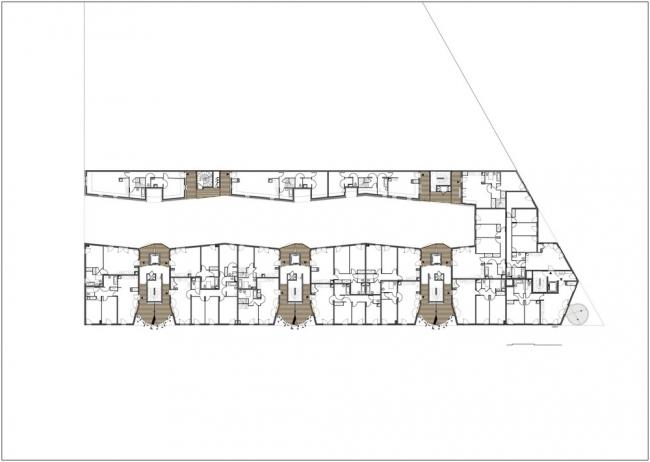 Комплекс социального жилья Rive Seine © Tetrarc