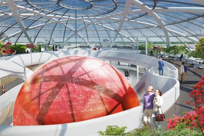 Концепция павильона атомной энергии на ВДНХ © «Евгений Герасимов и партнеры»
