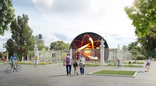 Концепция павильона атомной энергии на ВДНХ © ABD Architects