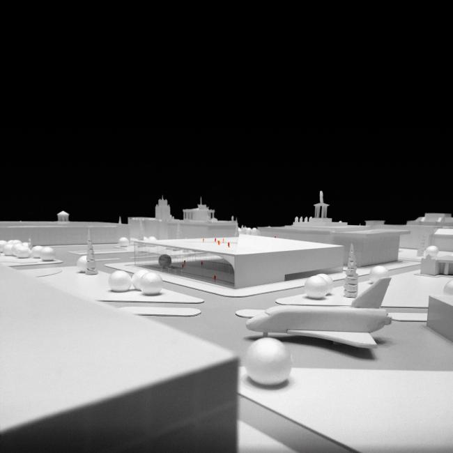 Макет павильона атомной энергии на ВДНХ © UNK project