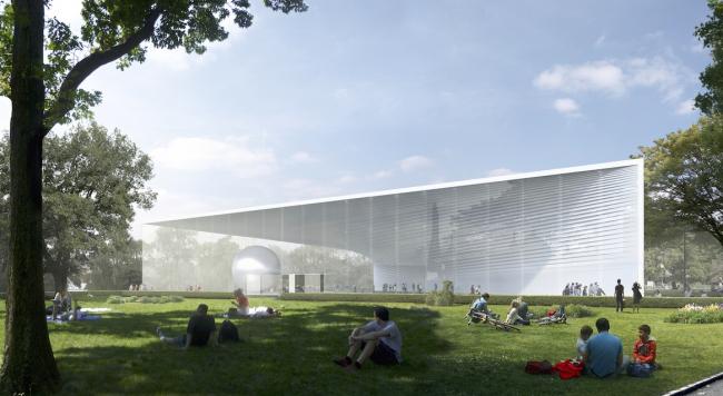 Концепция павильона атомной энергии на ВДНХ © UNK project