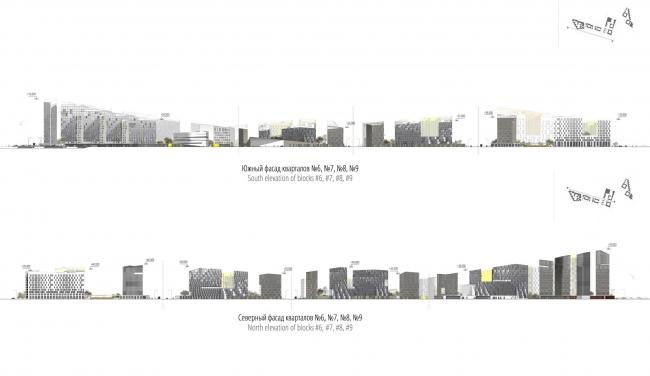 """Концепция комплексной общественно-жилой застройки на Васильевском острове. Фасады. А.Лен. Изображение предоставлено """"Glorax Development"""""""