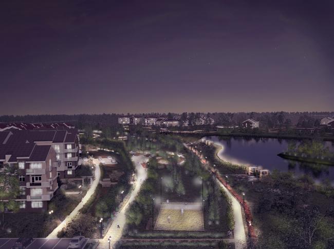 Архитектурно-планировочная концепция жилой застройки в Кирове. Визуализация. Проект, 2015 © Архстройдизайн