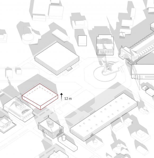 Павильон «Росатома» на ВДНХ. Высотные габариты © UNK project