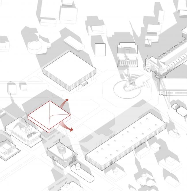 Павильон «Росатома» на ВДНХ. Раскрытие на площадь © UNK project