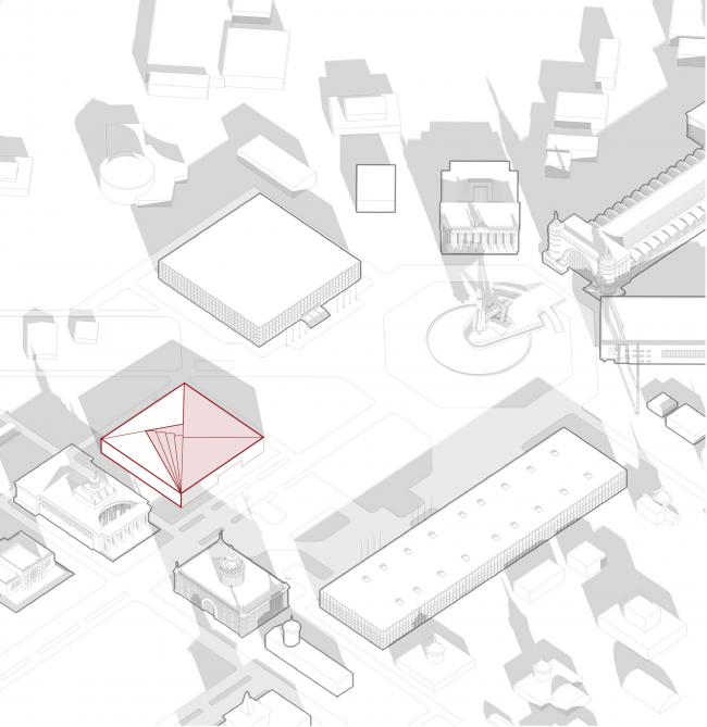 Павильон «Росатома» на ВДНХ. Эксплуатируемая кровля © UNK project