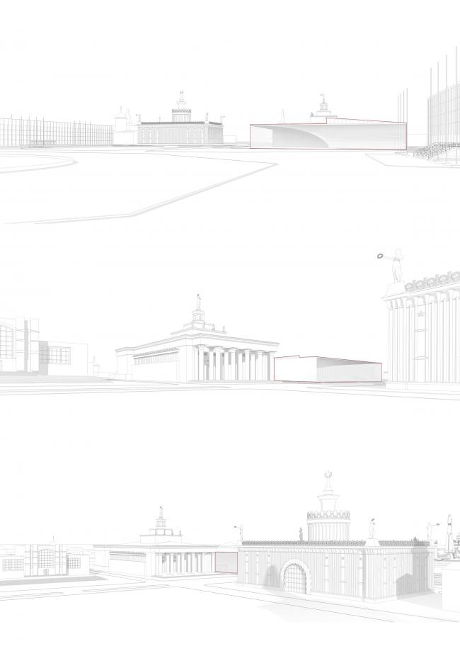 Павильон «Росатома» на ВДНХ. Визуальный анализ среды © UNK project