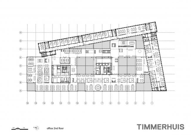 Тиммерхёйс – новое здание ратуши Роттердама © OMA