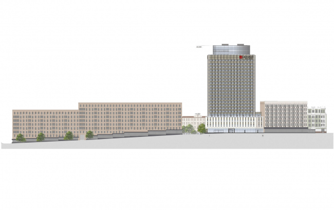 "Project of renovating ""Belgrade"" Hotel. Development drawing © T+T Architects"