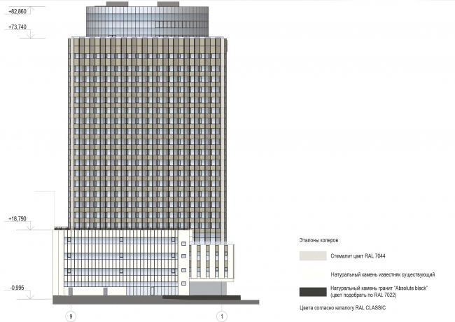 "Project of renovating ""Belgrade"" Hotel. Facade © T+T Architects"