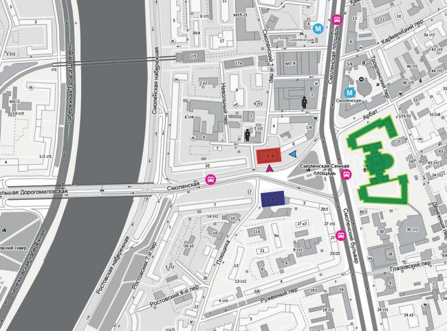 Проект перепланировки гостиницы «Белград». Ситуационный план © T+T Architects
