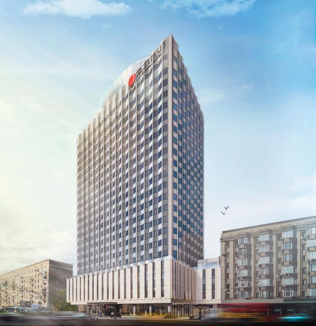 Проект перепланировки гостиницы «Белград». Вариант 2 © T+T Architects
