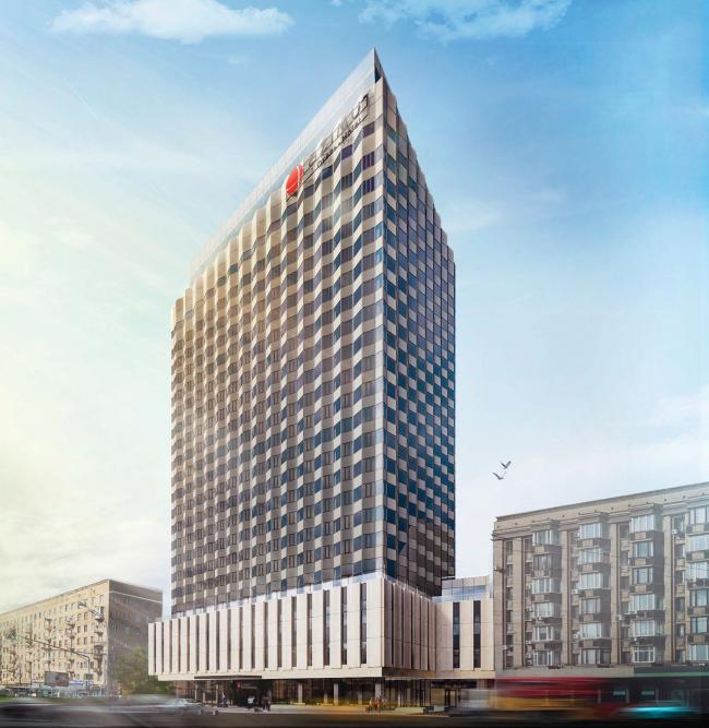Проект перепланировки гостиницы «Белград». Вариант 1 © T+T Architects