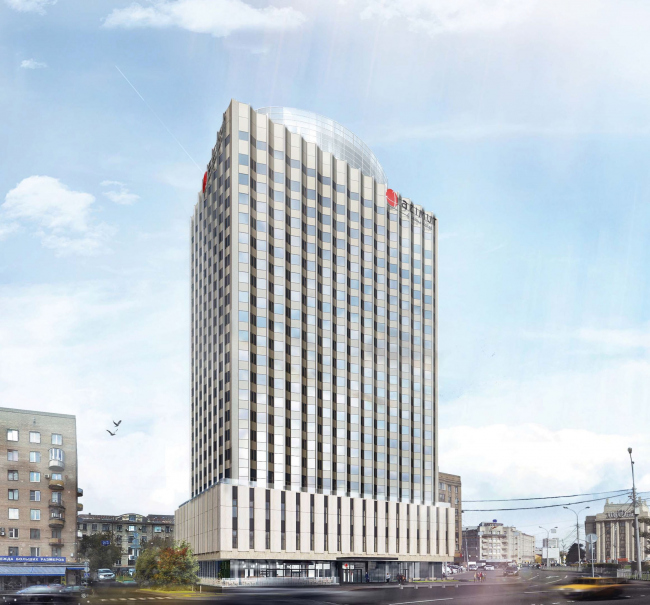 """Project of renovating """"Belgrade"""" Hotel. Version 2 © T+T Architects"""