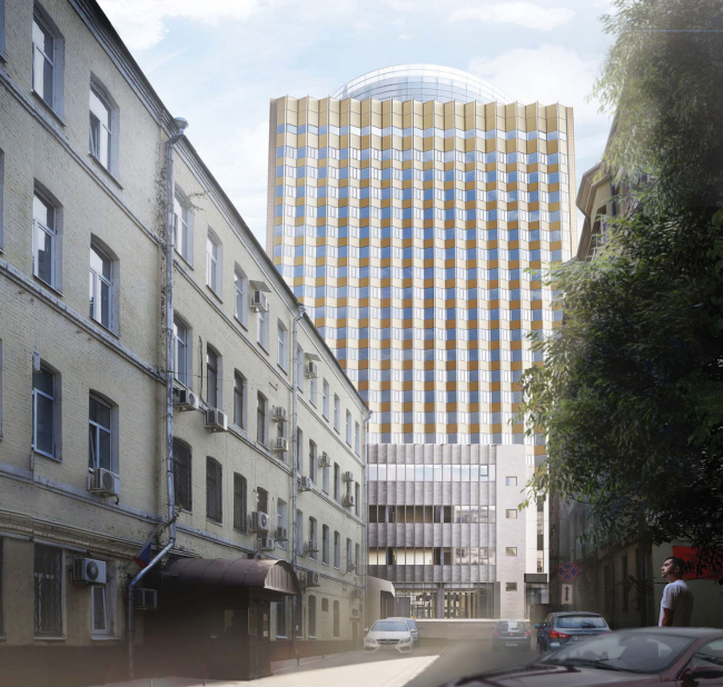 Проект перепланировки гостиницы «Белград». Вариант 1 надстройки © T+T Architects