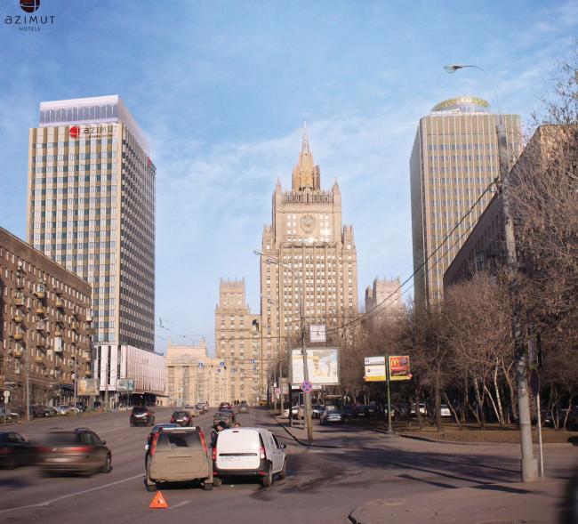 Проект перепланировки гостиницы «Белград». Вариант 2 надстройки © T+T Architects