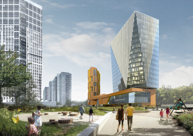 Многофункциональный комплекс и торговый центр на ул. Академика Ильюшина © Архитектурное бюро Асадова