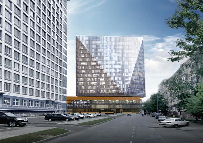 Multifunctional complex and shopping mall at the Akademika Ilyushina Street © Asadov Architectural Bureau