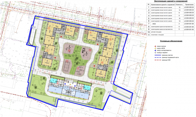 Residential complex in Kaluga. Master plan. Project, 2015 © GrandProjectCity