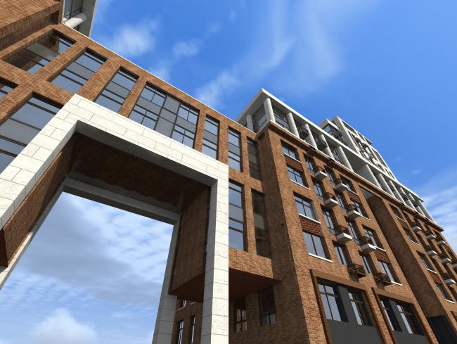 Жилой комплекс в Калуге. Проект, 2015 © ГрандПроектСити