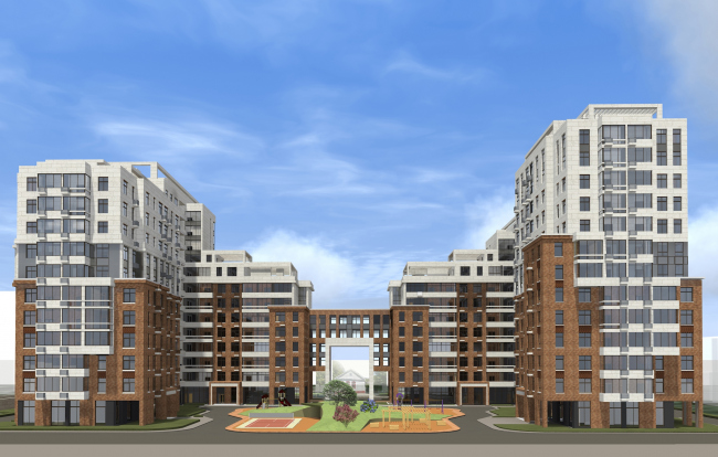 Residential complex in Kaluga. Project, 2015 © GrandProjectCity