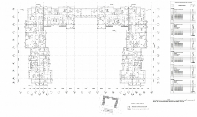 Residential complex in Kaluga. Plan of the 5thfloor. Residential unit. Project, 2015 © GrandProjectCity