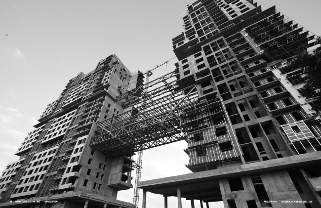 Жилой дом на Нахимовском проспекте. Строительство © Архитектурное бюро Асадова