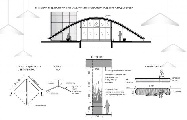 """Terekhovo"" metro station. Diagrams and basic units @Sergey Estrin Architects"