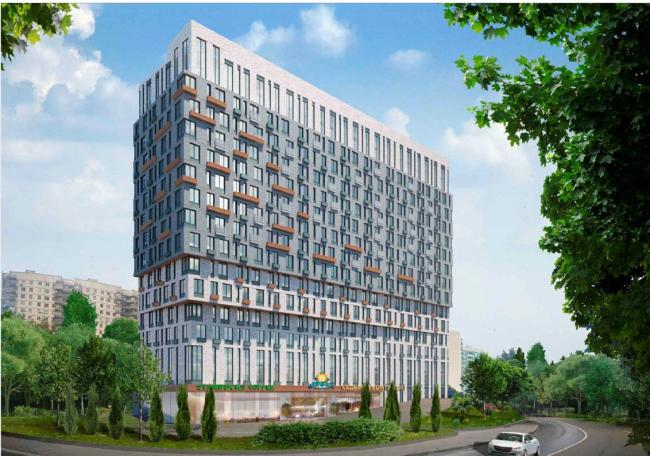 Жилой комплекс на Барвихинской улице. Варианты фасадов. Проектировщик: архитектурное бюро «Аймекс-Групп»