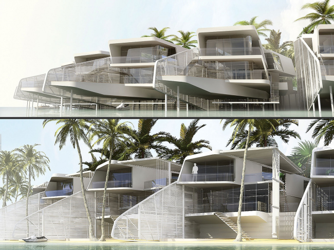 Остров «Шри-Ланка». Проект, 2007 © Гинзбург Архитектс