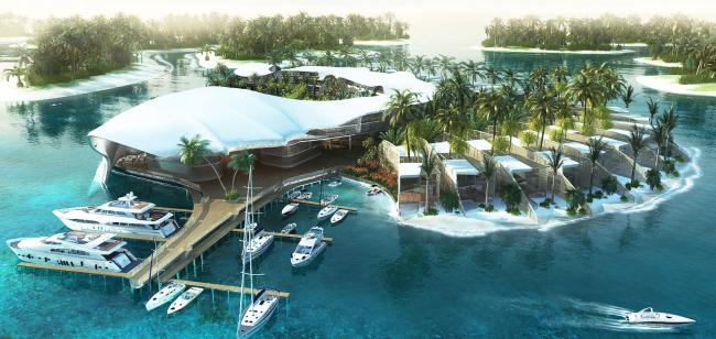 """Sri Lanka"" Island. Project, 2007 © Ginsburg Architects"