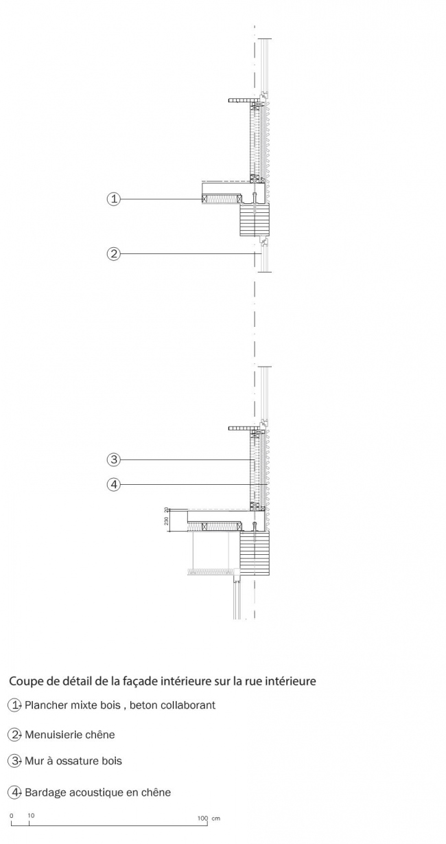 Лицей Нельсона Манделы © François Leclercq Architectes Urbanistes