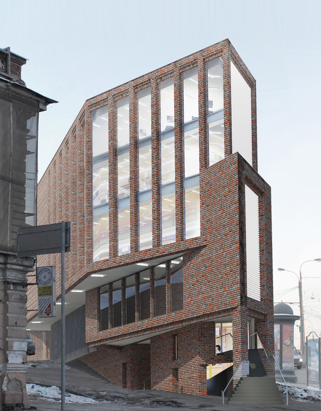Multifunctional complex on the Zemlyanoi Val Street. Project, 2014 © Ginsburg Architects