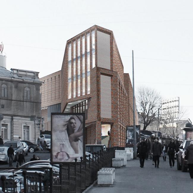 Многофункциональный комплекс на ул. Земляной Вал. Проект, 2014 © Гинзбург Архите14