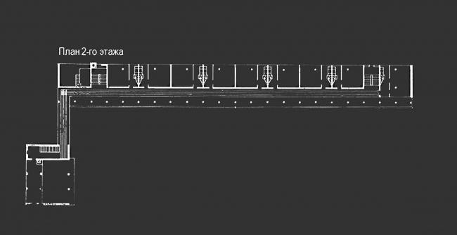 Проект реставрации и приспособления выявленного объекта культурного наследия «Здание дома-коммунны Наркомфина». План 2 этажа. Проект, 1995-2007 © Гинзбург Архитектс