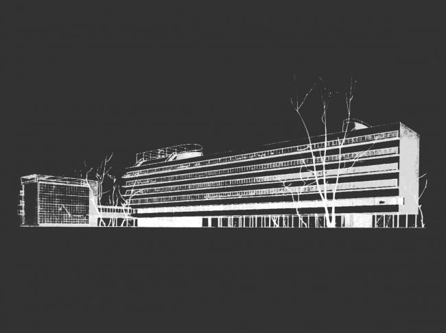 Проект реставрации и приспособления выявленного объекта культурного наследия «Здание дома-коммунны Наркомфина». Проект, 1995-2007 © Гинзбург Архитектс