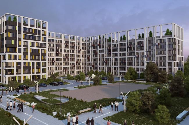 Варианты фасадных решений для квартала в г. Видное. Вариант 3. Проект, 2015 © PANACOM