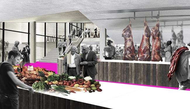 Проект редевелопмента кинотеатра «Варшава» ©  Консорциум: Спектрум + EMBT + А2ОМ